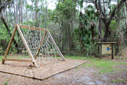 Must Do Sarasota attractions Crowley Museum & Nature Center Chidlren's Discovery Path spider web