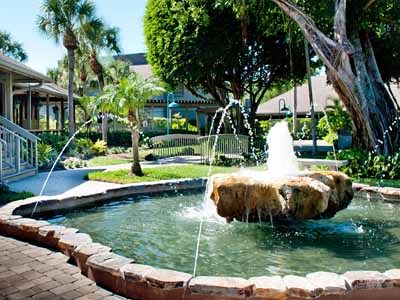 Fountain at Periwinkle Place Shops Sanibel Island Must Do Shopping