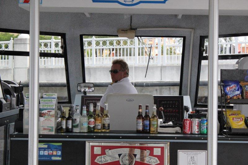 Pure Florida M.V. Double Sunshine boat capt. docking in Tin City, Naples, Florida
