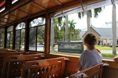 See more than 100 points of interest during a narrated tour aboard the vintage Naples Trolley.