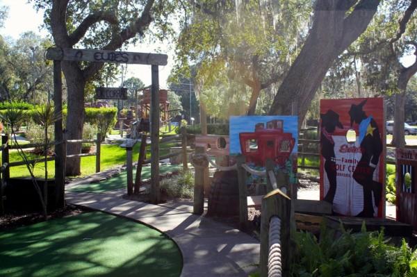 Evie's Family Golf Center western themed Miniature Golf Sarasota, Florida family fun activities