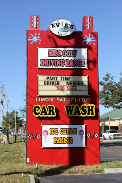 Family Fun things to do at Evie's Family Golf Center, Tavern & Grill, Car Wash, Ice Cream Parlor Sarasota, Florida