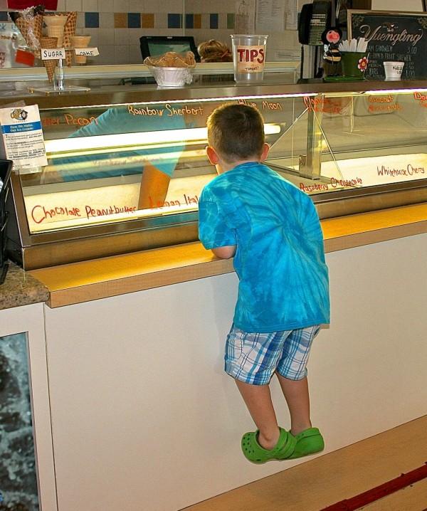 Ice Cream counter Evie's Family Golf Center Sarasota, Florida