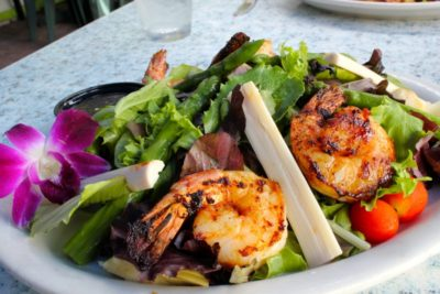 MustDo.com | Grilled shrimp salad Key Lime Bistro Captiva Island, Florida