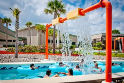 MustDo.com | Sun n Fun Lagoon waterpark families floating down the Lazy River Naples, Florida.