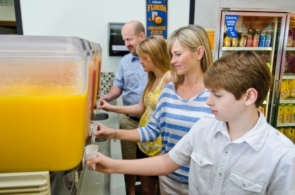 Enjoy fresh squeezed Florida orange juice at Sun Harvest Citrus, Fort Myers, Florida shopping