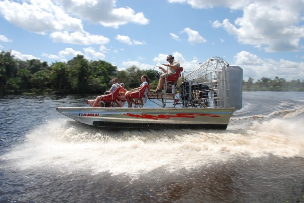 Peace River exciting airboat tours Sarasota, FL