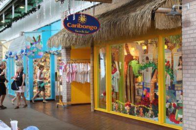 Caribongo mens, womens, childrens beachwear Fishermen's Village shopping