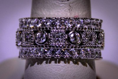 Created Gems Spektralyte diamond ring Siesta Key shopping