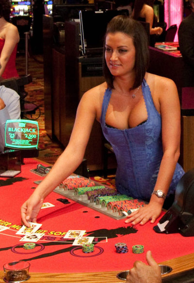 ZigZag Girl deals blackjack at Seminole Casino Immokalee