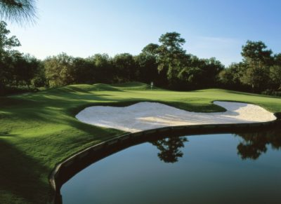 Universiy Park Country Club golf course hole no. 5 green.