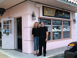 Mark and Barbie Edwards owners of Created Gems jewelry store on Siesta Key, Florida.
