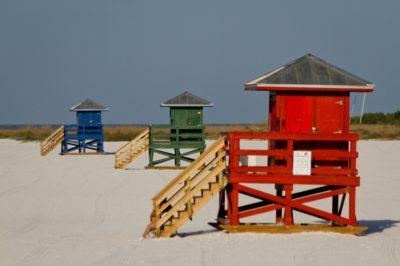 MustDo.com | Siesta Key Beach lifeguard stands, Sarasota, Florida