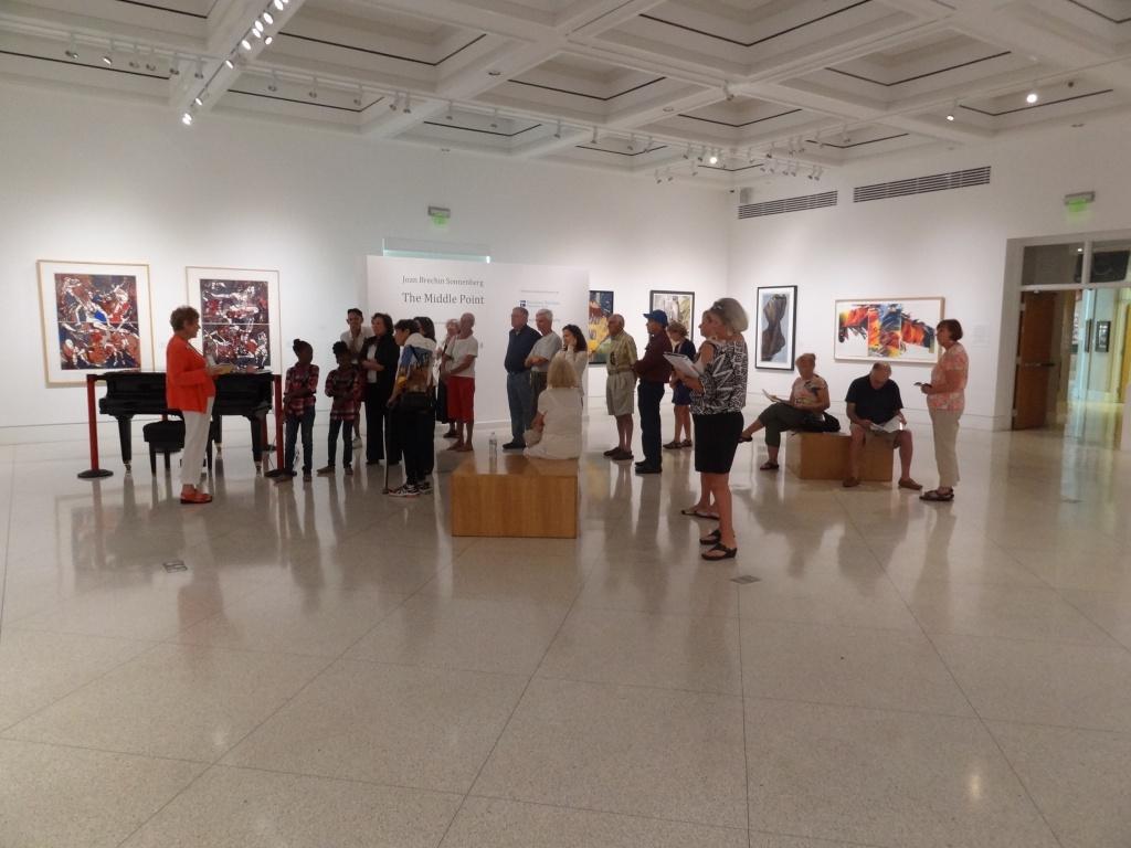 Art exhibit at The von Liebig Art Center gallery Naples, Florida.