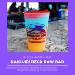 Daiquiri Deck Raw Bar features more than one dozen different frozen daiquiris at their restaurants in Siesta Key, St. Armands Circle, Sarasota, and Venice, Florida. Must Do Visitor Guides, MustDo.com.