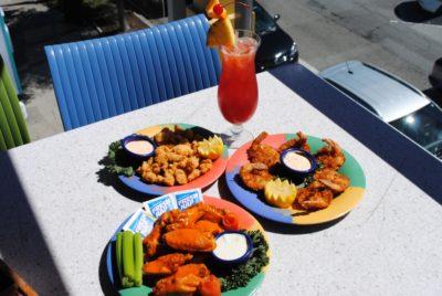 Daiquiri Deck Raw Bar buffalo wings, calamari and coconut shrimp St. Armands Circle Sarasota, Florida