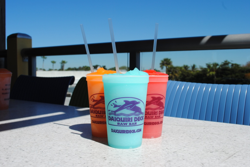 Daiquiri Deck Raw Bar frozen daiquiris Sarasota, Florida
