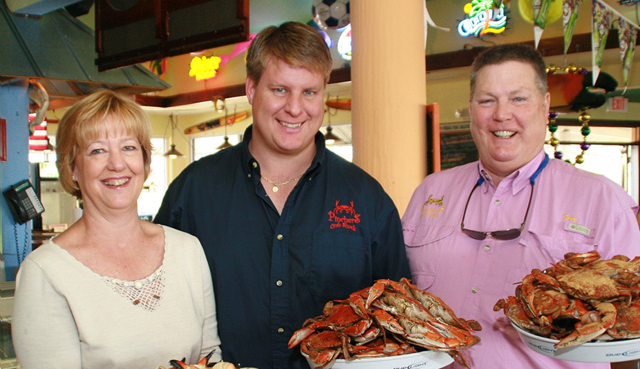 Family owned Pincher's Crab Shack 9 Florida locations