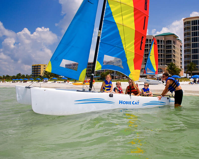 Holiday Water Sports hobie cat sailing Ft. Myers Beach, FL