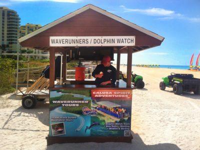 Marco Island Water Sports rental hut at Marriott Crystal Shores beach Marco Island, Florida