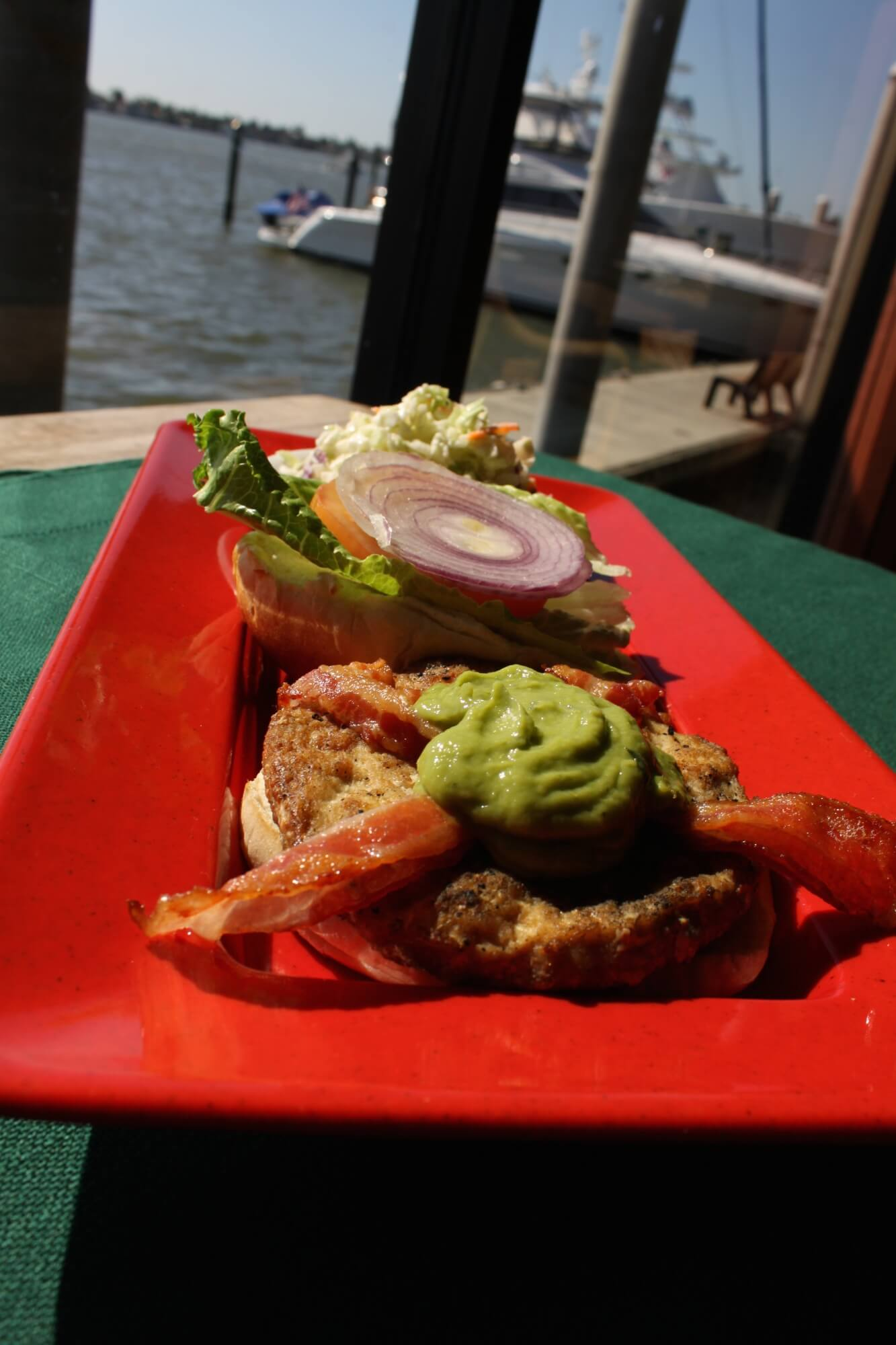 California Turkey Burger from The Boathouse Restaurant Naples, Florida | Must Do Visitor Guides MustDo.com