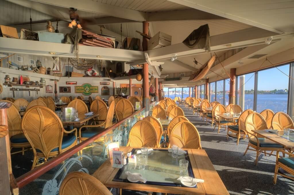 MustDo.com | Interior dining room of The Boathouse Restaurant Naples, Florida