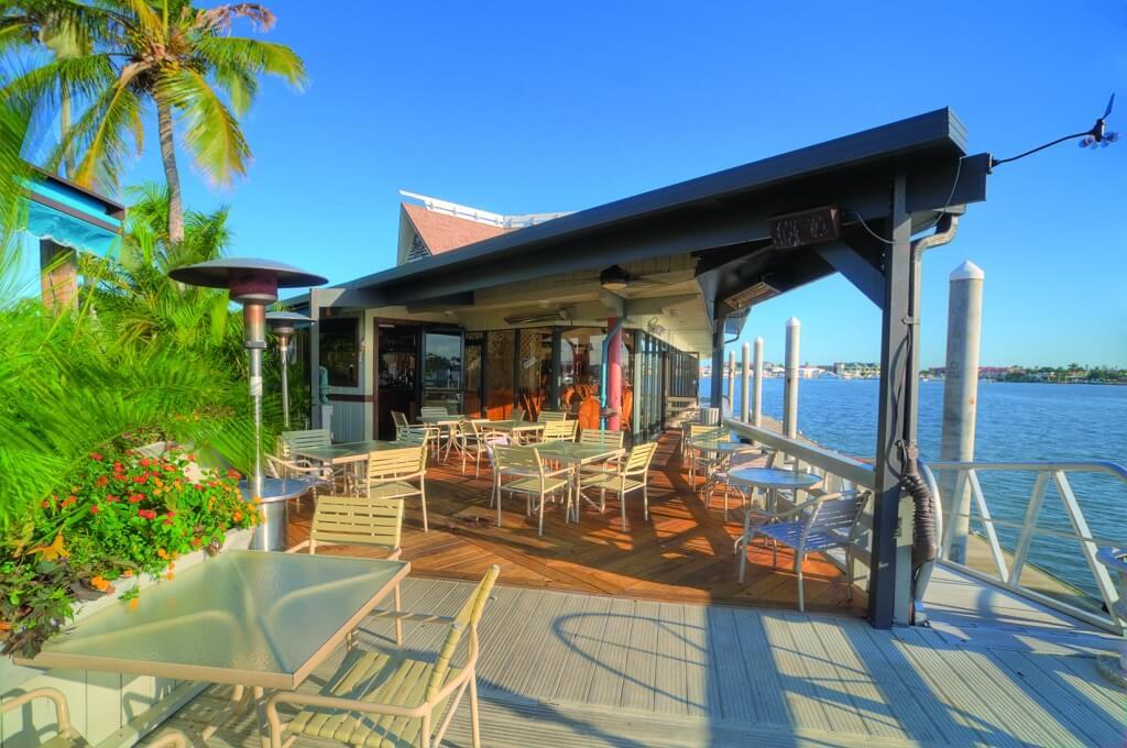 MustDo.com | The Boathouse Restaurant outside deck Naples, Florida
