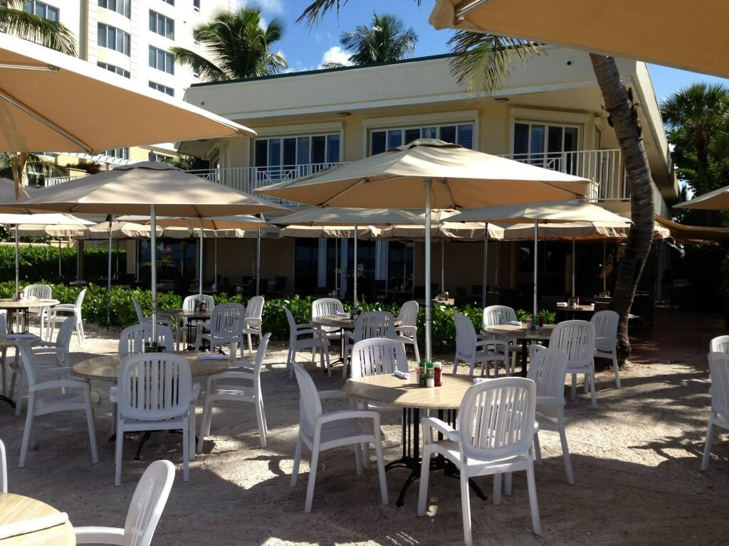 MustDo.com | The Turtle Club Restaurant patio and beach waterfront dining Naples, Florida