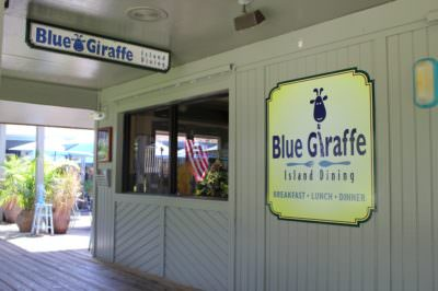 MustDo.com | Blue Giraffe family friendly restaurant Sanibel Island, Florida