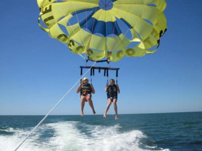 MustDo.com | Sarasota, Florida Must Do Visitor Guide |Siesta Key Watersports tandem parasailing Sarasota, Florida