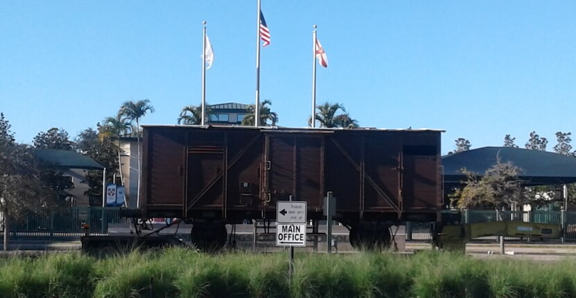 Holocaust Museum World War II era box car Naples, Florida.