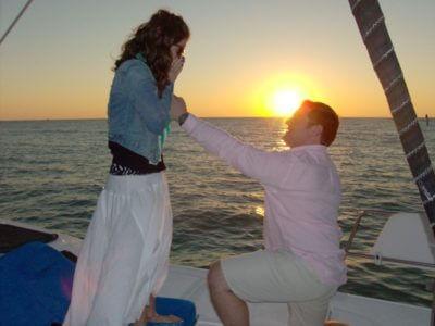 Cool Beans Cruises romantic sunset sail Engagement Naples, FL | MustDo.com