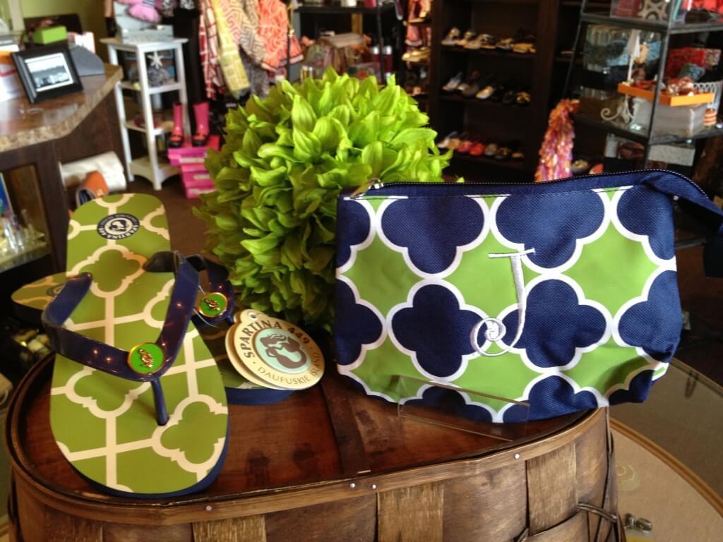 Spartina Flip flop, Royal Standard Mono Makeup Bag Molly's! Sarasota, FL