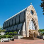 MustDo.com | The beautiful architecture of the Ave Maria Oratory in Ave Maria, Florida