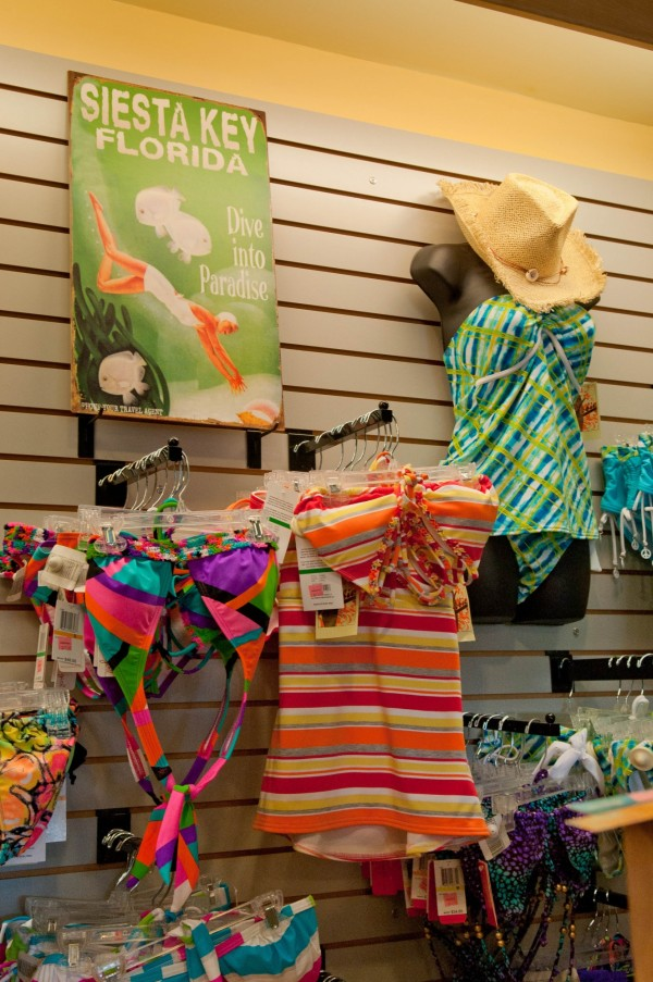 Must Do Visitor Guides | MustDo.com Beach Bazaar women's swimsuit shopping Siesta Key, Florida