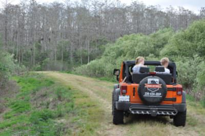 MustDo.com | Orange Jeep Tours wildlife eco-tours in Ave Maria, near Naples, Florida.