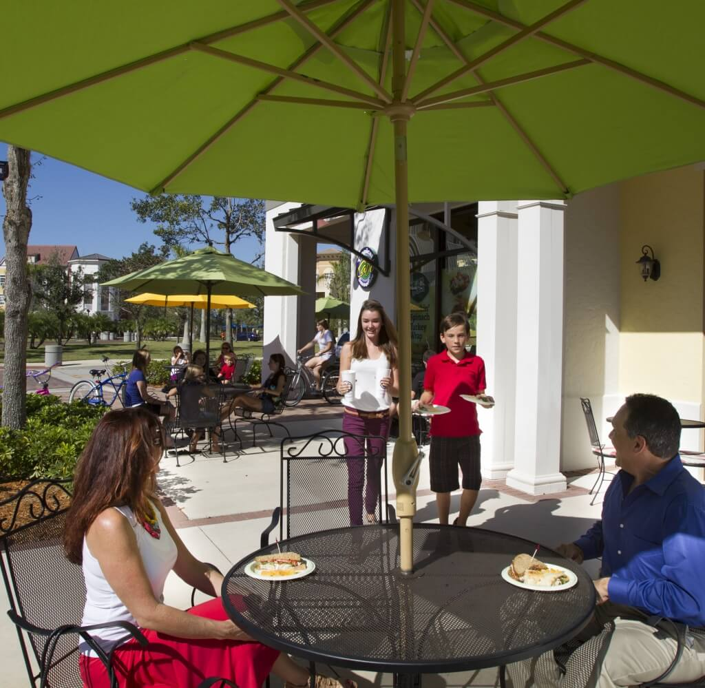 MustDo.com | Outdoor dining Town Center Ave Maria, Florida