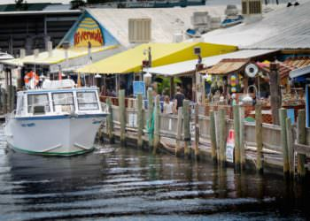 Must Do Visitor Guides Riverwalk waterfront dining, activites at Tin City Naples, FL. Photo credit Debi Pittman Wilkey