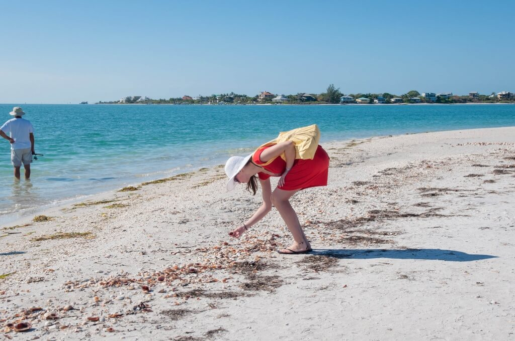 Shelling on Sanibel Island Beaches Fort Myers, Florida. Photo by Debi Pittman Wilkey