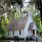 Sarasota historical attraction, Mary's Chapel at Historic Spanish Point, Osprey, Florida, USA