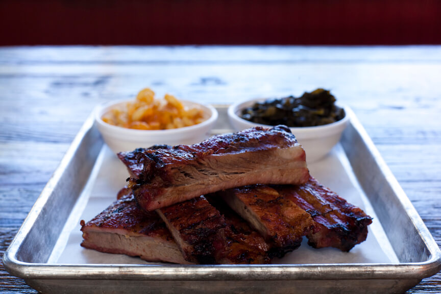 MustDo.com | Slow roasted BBQ Ribs from Nancy's Bar-B-Q Sarasota, Florida