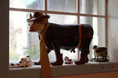 The Island Cow restaurant kitschy decor Sanibel Island, Florida