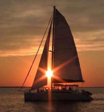 MustDo.com | Sunset through the Sail of the Kathleen D Sarasota, Florida