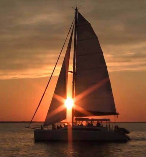 MustDo.com | Sunset through the Sail of the Kathleen D Sarasota, Florida