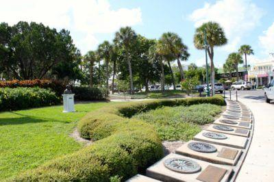 Must Do Visitor Guides, MustDo.com | Circus Ring of Fame St. Armands Circle Sarasota, FL. Photo credit Nita Ettinger.