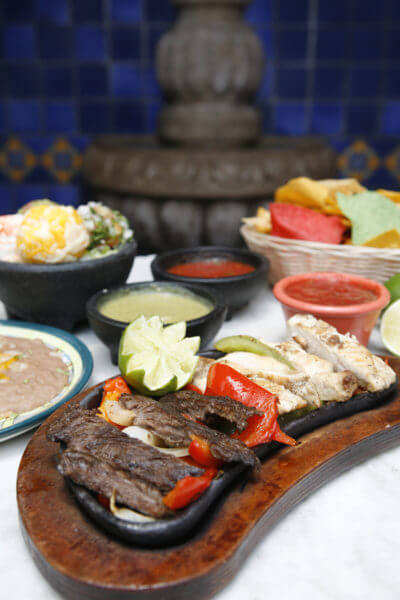MustDo.com | Fajitas at Mi Pueblo Mexican restaurant Sarasota and Venice, Florida.