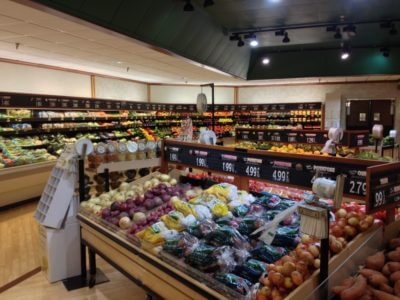 MustDo.com   Stock up on healthy snack items while on vacation. Fresh fruits and vegetables in the produce dept. at Jerry's Foods Sanibel, FL