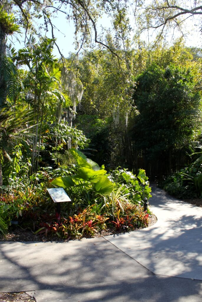 MustDo.com, Must Do Visitor Guides. Garden pathway at Marie Selby Botanical Gardens Sarasota, Florida.