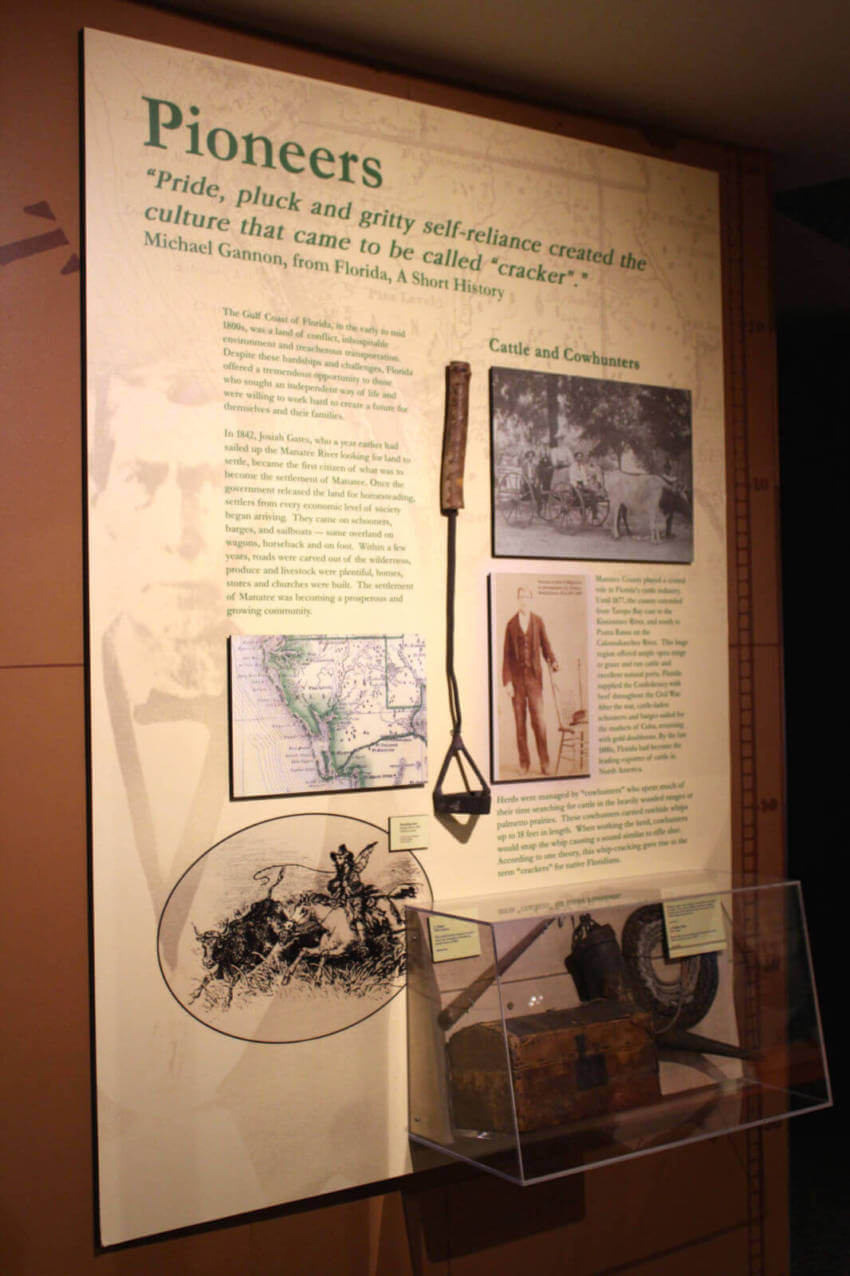 Learn about Florida's pioneers at the Bishop Museum of Science & Nature Bradenton, Florida USA.  Must Do Visitor Guides | MustDo.com