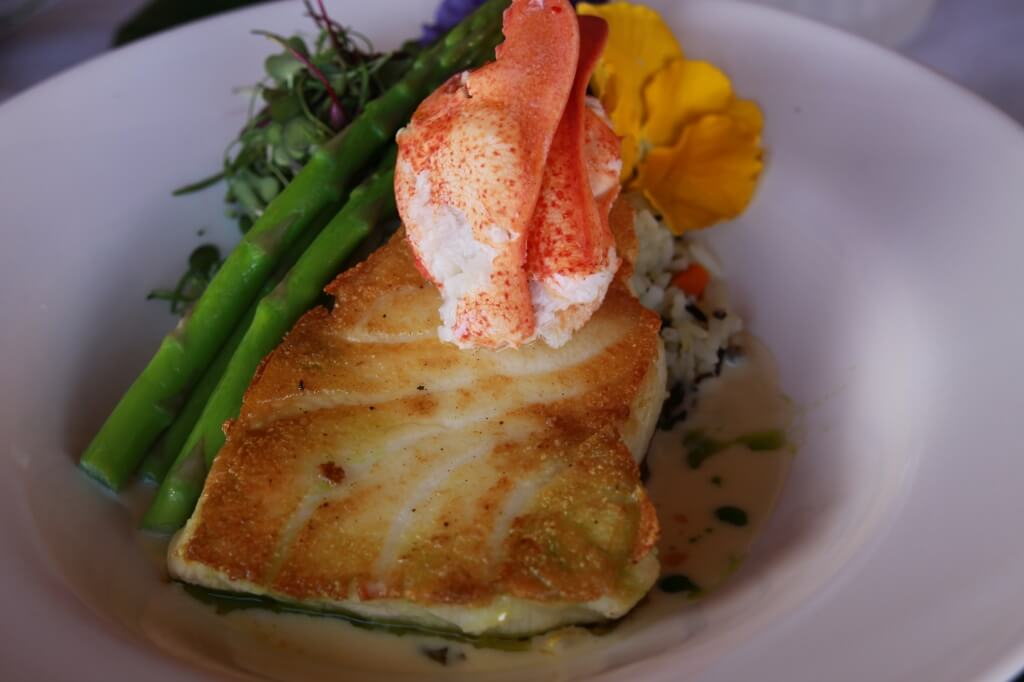 MustDo.com | Pan seared fish topped with lobster South Beach Grille Ft. Myers Beach, FL